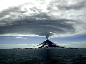 Ten years ago, Augustine volcano in Alaska swelled, rumbled and erupted. A gigantic cloud of ash rose above the mountain and two lava flows crawled down its sides. The eruption resulted in ash fall throughout south-central Alaska and disrupted air traffic over the state. Historically, Augustine volcano has been the most active volcano in Alaska's Cook Inlet region with recent eruptions in 1976, 1986 and 2006. Photo by Cyrus Read of the US Geological Survey. Posted on Tumblr by the US Department of the Interior, 3/24/16.