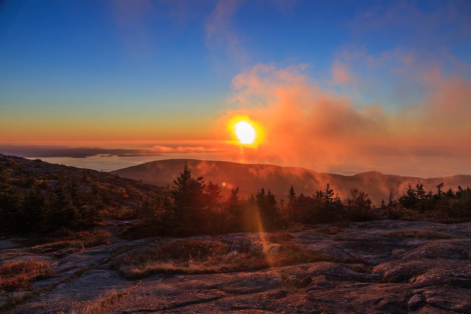 If you want to be the first person to see the sunrise in the continental U.S., you'll need to take an early hike up Cadillac Mountain in Acadia National Park. As the sun peeks above the horizon and lights the Maine coastline, you'll be treated to this gorgeous scene. Consider it a daily dose of nature's love. Posted on Tumblr by the US Department of the Interior, 4/26/16.