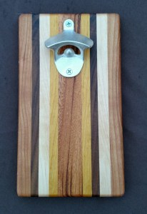 Magic Bottle Opener 16 - 027. Cherry, Black Walnut, Hard Maple, Yellowheart & Goncalo Alves.