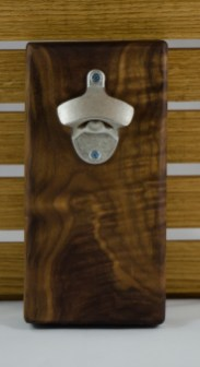 Magic Bottle Opener 16 - 045. Quilted Black Walnut.