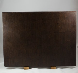 "Cutting Board 16 - End 037. Black Walnut, End Grain. 16"" x 21-1/2"" x 1-1/2"". Commissioned piece."