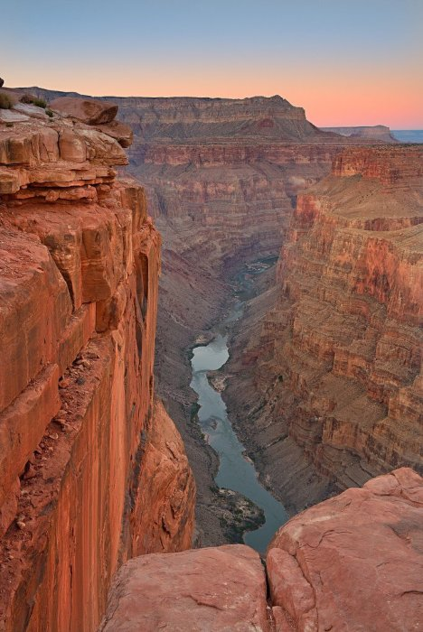 Twilight photo from the Grand Canyon's Toroweap. Photo by David Shield. Tweeted by the US Department of the Interior, 5/31/16.
