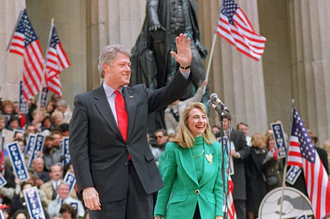 President Clinton - Flag