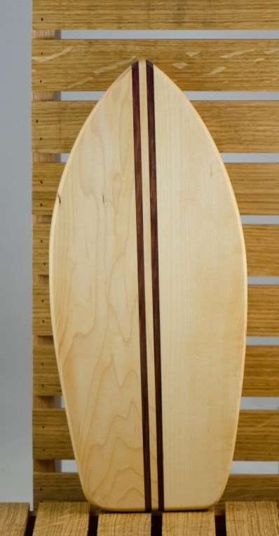 Small Surfboard 16 - 06. Hard Maple & Purpleheart.