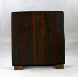 """Small Board 16 - 022. Black Walnut & Bloodwood. 10"""" x 10"""" x 7/8""""."""