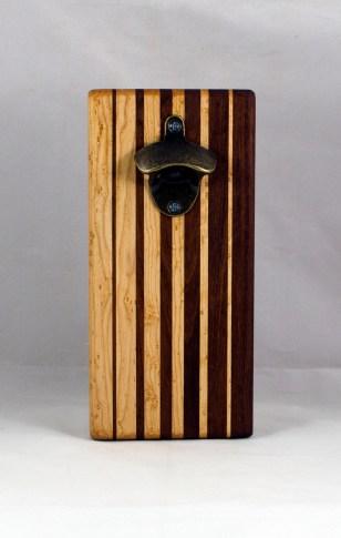 Magic Bottle Opener 16 - 124. Birdseye Maple & Jatoba. Single Magic.