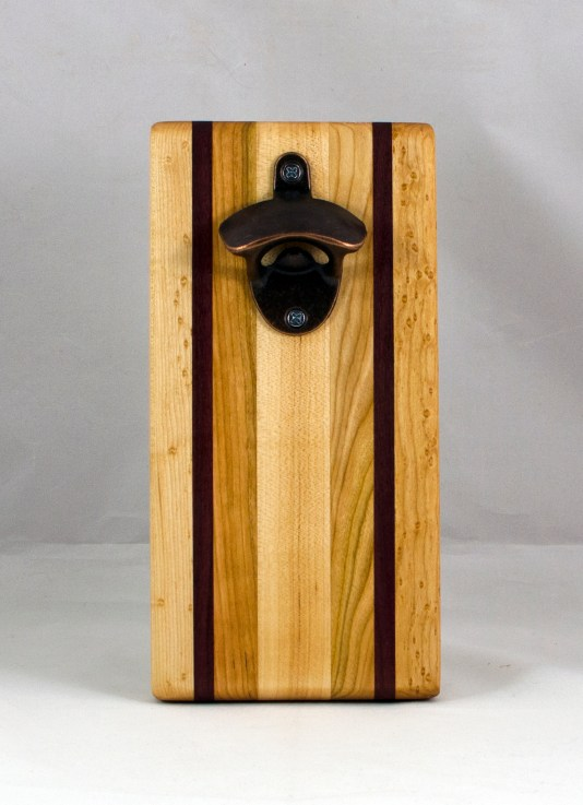 Magic Bottle Opener 16 - 133. Hard Maple, Cherry & Bubinga. Single Magic.