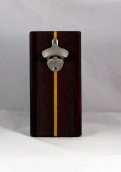 Magic Bottle Opener 16 - 135. Purpleheart, Bubinga, Bloodwood & Yellowheart. Double Magic.