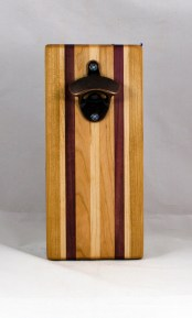 Magic Bottle Opener 16 - 143. Cherry, Hard Maple & Bloodwood. Double Magic.