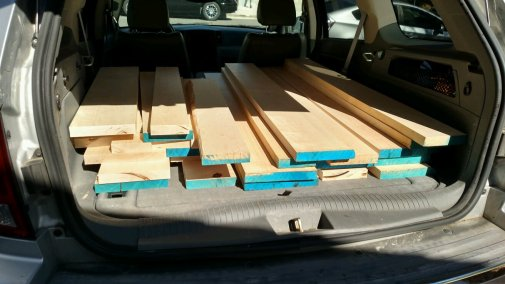 I bought over 100 board feet of 6/4 Hard Maple, but only expected to use about half of that on this project.