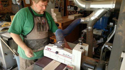 """Every blank had to be rough sanded on it's way to the finished thickness of 3/16""""."""