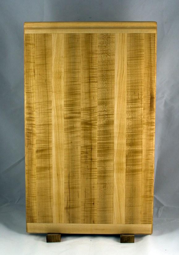 "Cutting Board 16 - Edge 022. Hard Maple. Bread Board Ends, Edge Grain. Replacement in-counter board. Commissioned Piece. 14"" x 22"" x 3/4""."