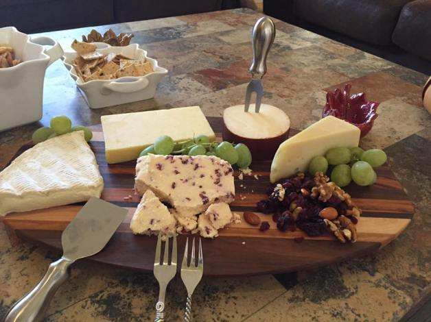 The Cheese & Cracker Server, in action.