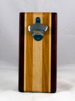 Magic Bottle Opener 17 - 602. Padauk, Hard Maple & Honey Locust. Double Magic.