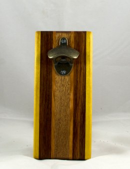 Magic Bottle Opener 17 - 603. Yellowheart, Jatoba, Cherry & Mahogany. Single Magic.
