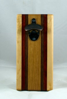 Magic Bottle Opener 17 - 604. Hard Maple, Padauk, Black Walnut & Cherry. Single Magic.