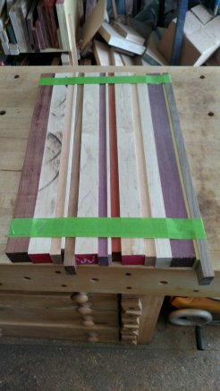Boards are picked & processed, and ready for glue up.