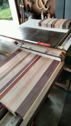 "The board gets sliced into 1-5/8"" pieces. You never know what's inside the wood until you slice the blank."
