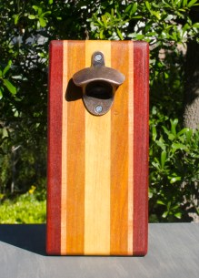 Magic Bottle Opener 17 - 629. Padauk, Cherry, Canarywood & Yellowheart. Double Magic.