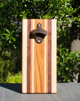 Magic Bottle Opener 17 - 906. Hard Maple, Jatoba, Cherry & Canarywood. Single Magic.