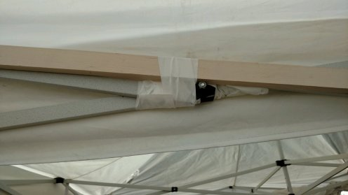 When your canopy is held together with duct tape, it's time to get a new display.