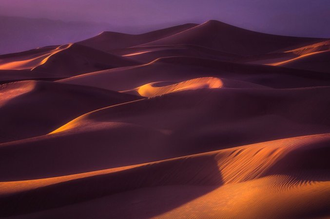 Sunset is the perfect time to take in the beauty of Mesquite Dunes at the Death Valley National Park. Photo by Scotty Perkins. Tweeted by the US Department of the Interior, 5/19/17.