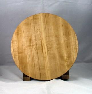 "Serving Piece 17 - 801. Hard Maple. 14"" diameter, 1-1/8"" thick."