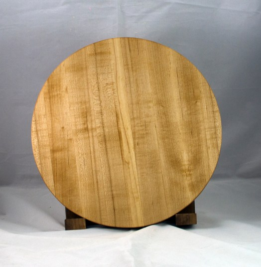 "Serving Piece 17 - 801. Hard Maple. 14"" diameter, 1-1/8"" thick."