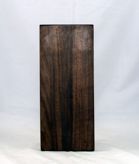 "Serving Piece 17 - 808. Black Walnut. 12"" x 5"" x 1-1/8"". Urethane finish."