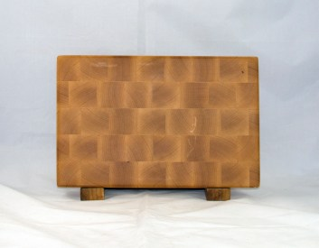 "Small Board 17 - 225. Hard Maple. End grain. 7"" x 11"" x 1""."