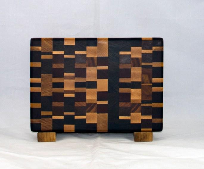 """Small Board 17 - 229. Chaos board. End grain. 7"""" x 11"""" x 1""""."""