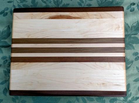 """Cutting Board 17 - 126. Edge grain. Jatoba & Hard Maple. 12"""" x 16"""" x 1-1/4""""."""