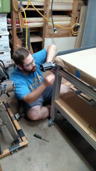 Mounting the CNC was actually the hardest thing to do ... as if following the instructions to build the stand was not.