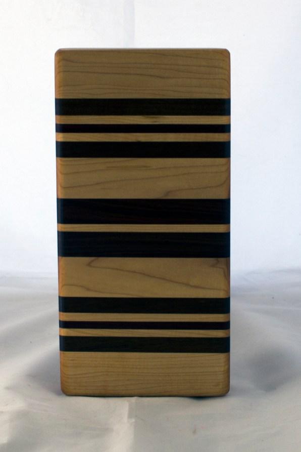 """Small Board 17 - 234. Hard Maple, Purpleheart, Jatoba & Pau Ferro. 5"""" x 11"""" x 1-1/4""""."""