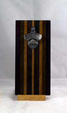 Magic Bottle Opener 17 - 657. Black Walnut, Pau Ferro & Cherry. Double Magic.