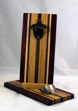 Magic Bottle Opener 17 - 664. Padauk, Hard Maple, Black Walnut & Red Oak. Double Magic.