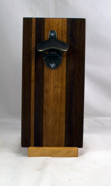 Magic Bottle Opener 17 - 668. Black Walnut, Jatoba & Cherry. Double Magic.
