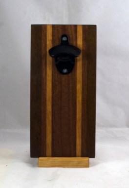 Magic Bottle Opener 17 - 672. Black Walnut, Sapele & Cherry. Double Magic.