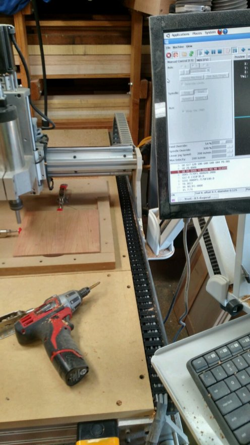 Held in place by 2 push clamps and a jig with a good corner.