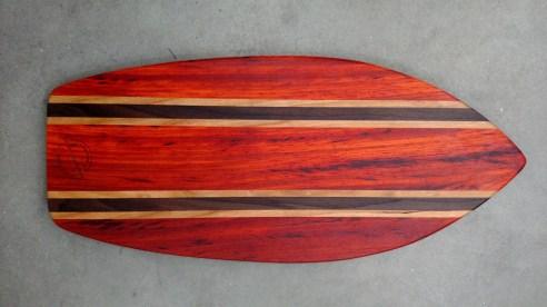 Medium Surfboard. Padauk, Cherry & Purpleheart.