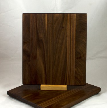 "Cheese Board 17 - 345. Black Walnut. 9"" x 11"" x 3/4""."