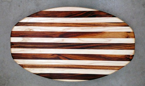 Cheese & Cracker Server 17 - 15. Hard Maple & Goncalo Alves.