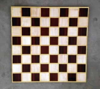 Chess 17 - 312. Hard Maple, Padauk & Yellowheart.
