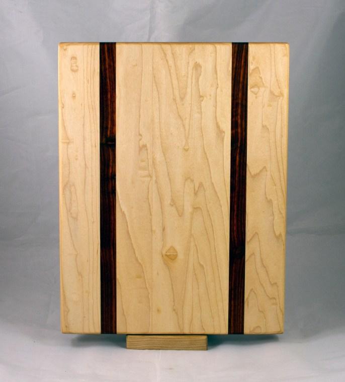 "Cutting Board 17 - 144. Hard Maple & Padauk. 12"" x 16"" x 1-1/4""."