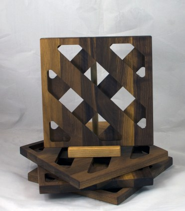 Trivet 17 - 13. Black Walnut.