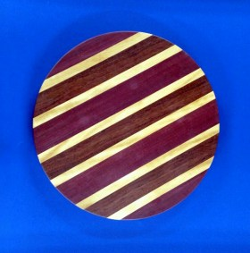 Lazy Susan 18 - 05. Purpleheart, Yellowheart & Jatoba.