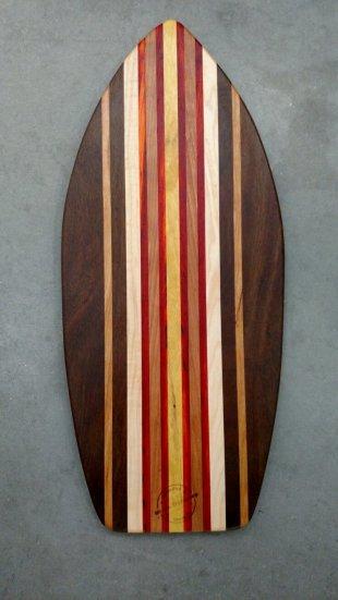 Medium Surfboard 17 - 07. Black Walnut, Cherry, Hard Maple, Padauk & Canarywood.
