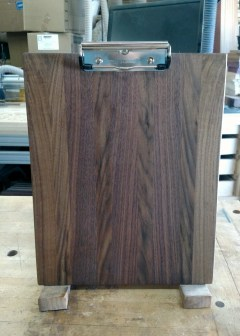 "Clipboard 18 - 822. Letter size, 1/2"" clip. There's nothing like Black Walnut."
