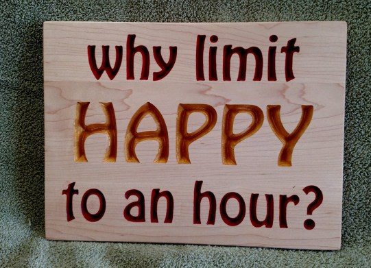 "CNC Sign 18 - 59. Hard Maple. 9"" x 12""."
