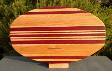 Large Serving Piece 18 - 08. Purpleheart, Cherry & Hard Maple.